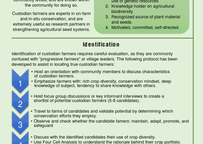 A Guide to the Identification and Importance of Custodian Farmers