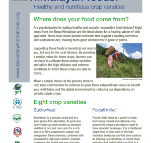 Himalayan Foods: Healthy and Nutritious Crop Varieties