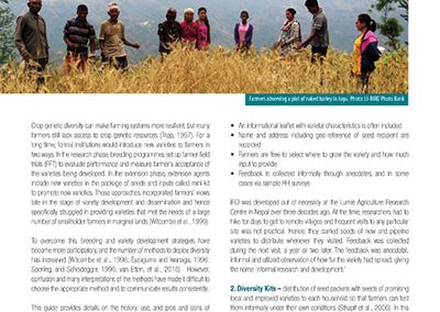 A Field Guide To Participatory Methods For Sourcing New Crop Diversity