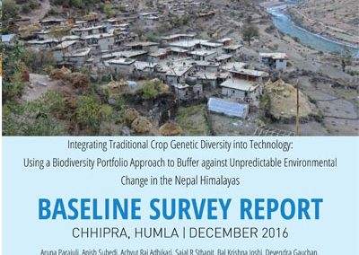 Baseline Survey Report, Chhipra, Humla